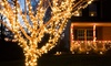 225 Solar-Powered LED String Lights with Two Mounting Options : 225 Solar-Powered LED String Lights with Two Mounting Options