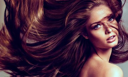 image for Wash, Cut and Blow-Dry with Optional Half Head of Highlights at Hairdressing Station (Up to 57% Off)