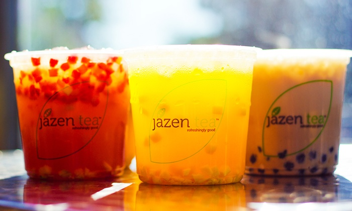 Jazen Tea - Multiple Locations: Three or Six Groupons for Fruit Tea Drinks and Smoothies at Jazen Tea (Up to 39% Off)