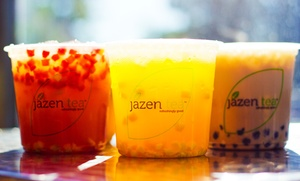 Jazen Tea: Three or Six Groupons for Fruit Tea Drinks and Smoothies at Jazen Tea (Up to 39% Off)