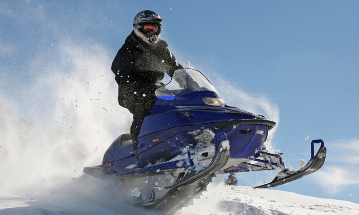 Blue Mountain Activities - Ravenna: Snowmobile Rental for Two with Optional Snowshoe Rental at Blue Mountain Activities (Up to 48% Off)