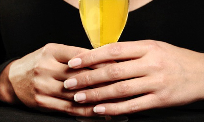Oasis Pamper Bar - Longfellow: One or Three Non-UV Light SNS Gel Manicures with Free Mimosa for Ages 21 and Up at Oasis Pamper Bar (70% Off)