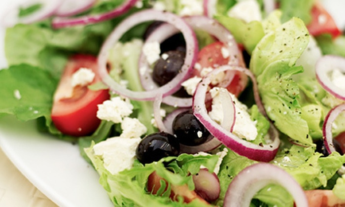 Mina & Dimi's Greek House - Lackland Terrace: Greek Dinner and Soft Drinks on Friday or Saturday or Monday–Thursday at Mina & Dimi's Greek House (Up to Half Off)