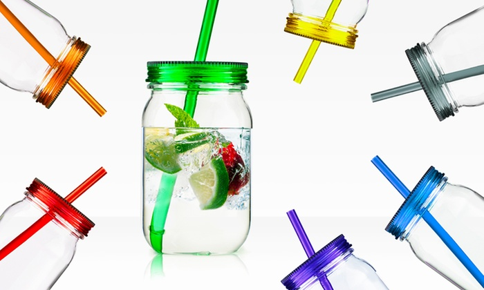 Set of Two Mason Jars with Straws: $13.99 for a 2-Pack of Mason Jar Tumblers with Straws ($18.58 List Price). Multiple Colors Available. Free Returns.