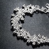 Dangle Bead Bracelet in Solid Sterling Silver