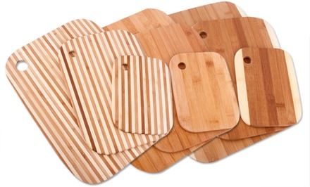 Set of 3 Bamboo Cutting Boards. Multiple Designs Available.