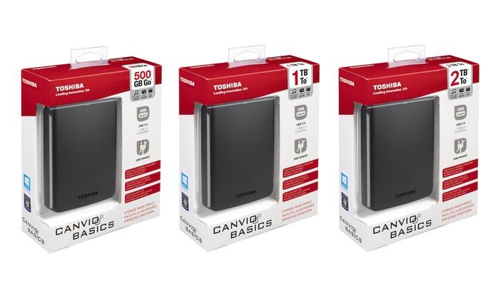 HDD Toshiba Canvio Basics disponibile in 3 capacità da 45,90 € con spedizione gratuita (fino a 41% di sconto)