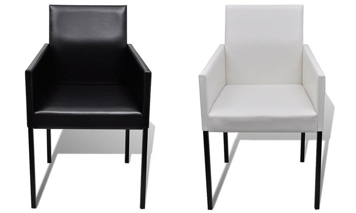 Lot de 2 4 ou 6 chaises de salle manger barly groupon for Chaise de salle a manger trackid sp 006