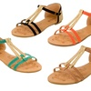Shoevibe Women's Liliana T-Strap Sandals