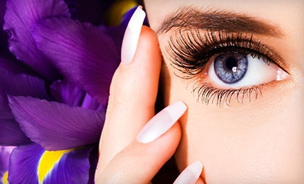 One or Three Eyelash Perms or One Shellac Mani-Pedi at Shuku 2 Salon Spa (Up to 72% Off)