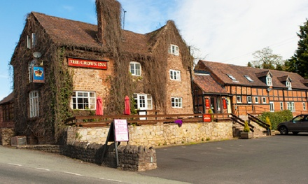 Shropshire: 1 to 3 Nights for Two with Breakfast and Dinner at The Crown at Hopton