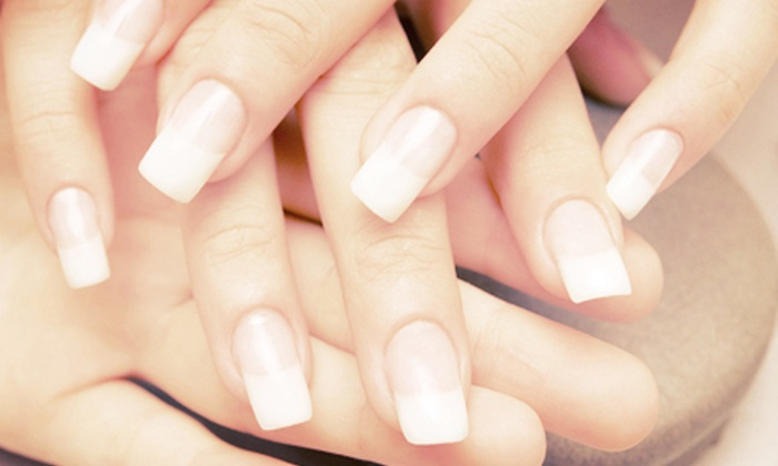 Nikki's Nails & Spa - Mission Hills South: Hot-Stone-Therapy Pedicure or Set of Gel or Solar Nails with Option for Pedicure at Nikki's Nails & Spa (Up to 57% Off)