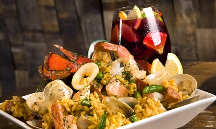 Dinner for Two or Paella and Sangria for Four at Picasso's Tapas & Restaurant (Up to 52% Off)