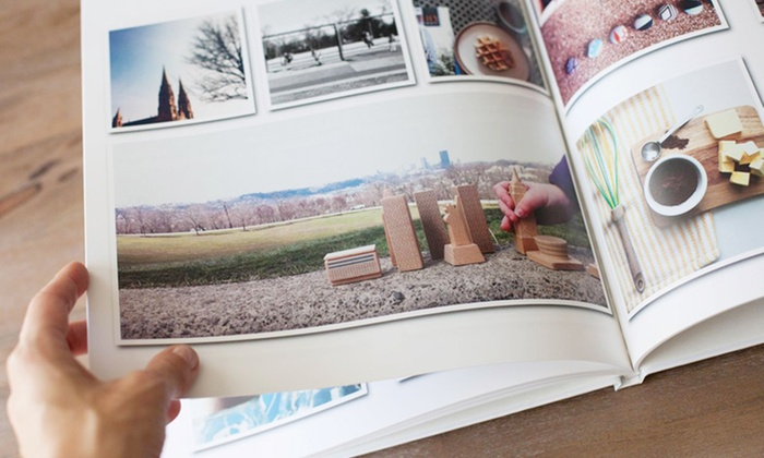 """Custom Photo Books from Picaboo: 11""""x9"""" or 14""""x11"""" Classic 20-Page Hardcover Photo Book from Picaboo (75% Off). Free Shipping."""