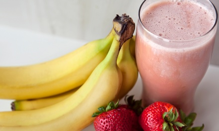 $15 for Five Groupons, Each Good for $5 Worth of Smoothies at Smoothie Q Factory ($25 Total Value)