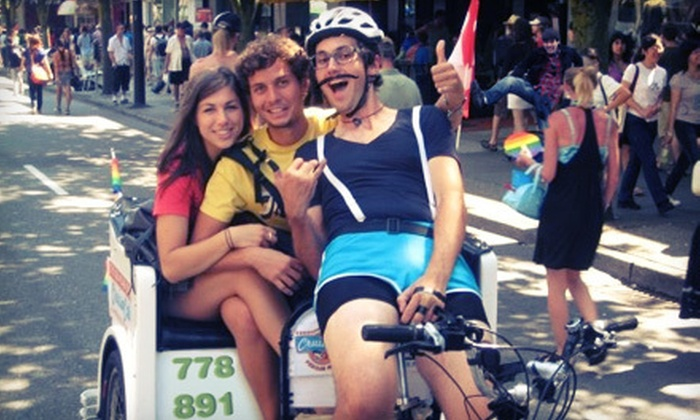 Cruise Cab - Vancouver: $25 for a 30-Minute Pedicab Ride for Two from Cruise Cab ($60 Value)