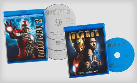 groupon daily deal - Iron Man 1 or 2 on Blu-ray