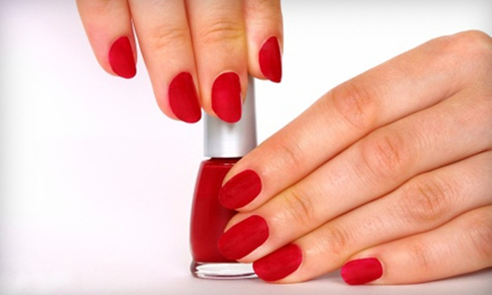 Nail Masters - Castleton: Shellac Manicure or Set of Acrylic Nails with Fill-In Session at Nail Masters (Up to 54% Off)