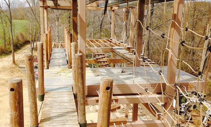 R Adventure Park - Logan: Coyote Point Ropes Course for 2, 4, or Up to 20 at R Adventure Park (50% Off)
