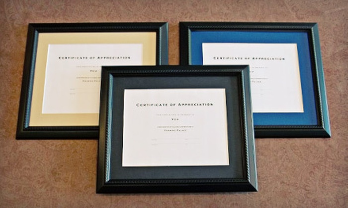 Framing Palace - Multiple Locations: Diploma-Framing Package or $40 for $110 Worth of Framing Services at Framing Palace