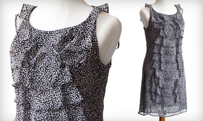 Jessica Howard Ruffled Sheath Dress: $29 for a Jessica Howard Ruffled Chiffon Sheath Dress ($99.99 List Price). Multiple Sizes Available.