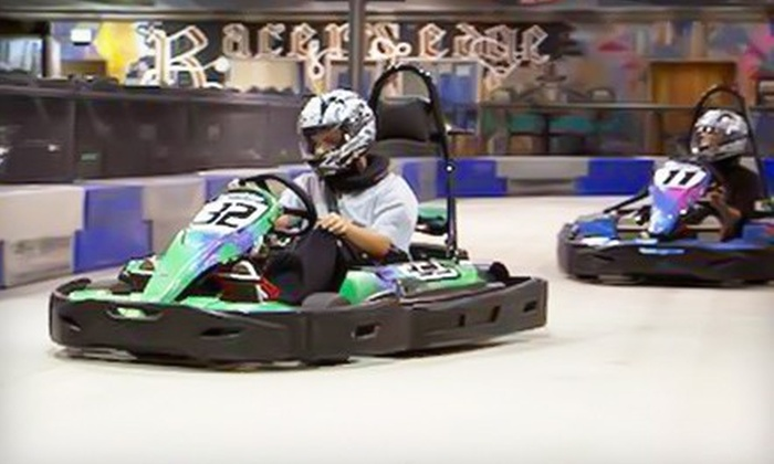 Racer's Edge Indoor Karting - Burbank: $44 for Four 16-Lap Go-Kart Races at Racer's Edge Indoor Karting ($97 Value)
