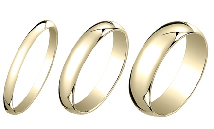 18K Gold-Plated Sterling Silver Unisex Band