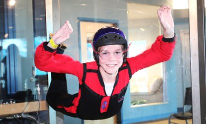 Four-Minute Indoor <strong>Skydiving</strong> Experience or FishPipe Ride at Skyventure New Hampshire (Up to 38% Off)
