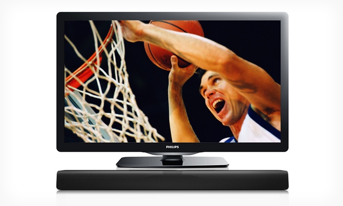 "Philips 40"" LED 1080p HDTV with Optional Soundbar: Philips 40"" LED TV with Option for Soundbar Speaker (25% Off). Free Shipping and Free Returns."