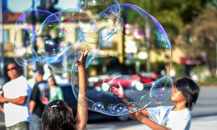 Bubble Guy of Coronado - San Diego: 60- or 90-Minute Bubble Entertainment and Play Time from Bubble Guy of Coronado (Up to 60% Off)