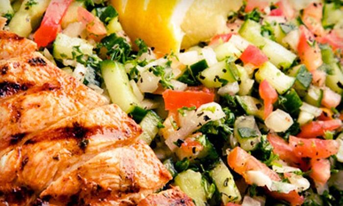 CK Mediterranean Grille & Catering - Kearny Mesa: Kabob, Shawarma, and Hummus Party Tray for 8–10 People or $8 for $16 Worth of Fare at CK Mediterranean Grille & Catering