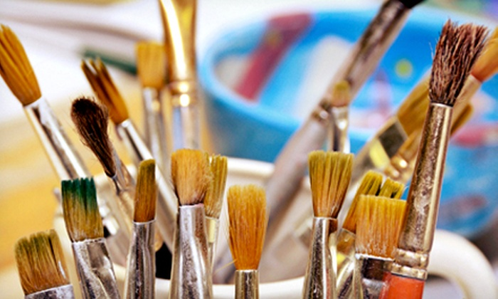 Brush & Bottle - Campus Farm: $40 for a Three-Hour BYOB Art Class for Two at Brush & Bottle ($80 Value)
