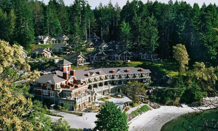groupon daily deal - 2-Night Stay for Two in a Lodge Room at Poets Cove Resort and Spa in Pender Island, BC. Combine Up to 4 Nights.