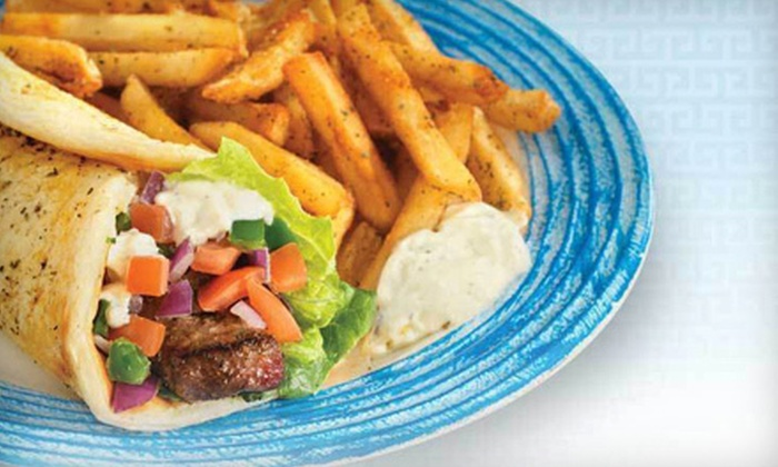 Opa! Souvlaki - Paradise Valley Mall: Greek Meal for with Entrees and Drinks for Two or Four at Opa! Souvlaki in Scottsdale (Up to 61% Off)