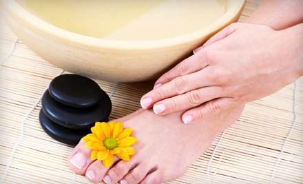 Shellac Manicure or Classic Hot-Stone Pedicure (a $30 value) - Bella Chic Nail Salon & Spa in Wichita