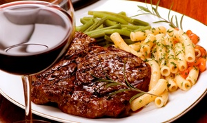 Grille 57 Steakhouse: $18 for $30 Worth of Dinner Cuisine for Two or More at Grille 57 Steakhouse