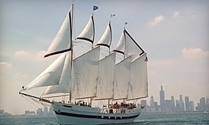"""Tall Ship Adventures of Chicago - Near North Side: $15 for a Summer Sail on the Tall Ship """"Windy"""" from Tall Ship Adventures of Chicago (Up to $30 Value)"""