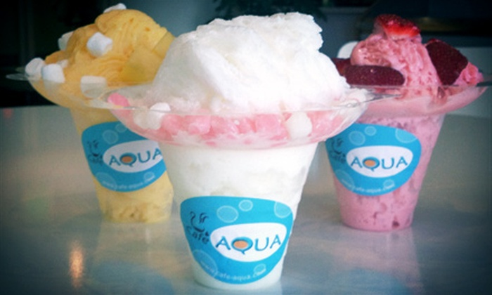 Cafe Aqua - Milpitas: Five Groupons, Each Good for One Regular Shaved Ice or One Large Shaved Ice with Topping at Cafe Aqua (52% Off)