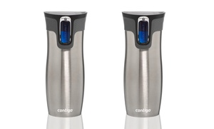 Set Of 2 Contigo 16oz. Autoseal West Loop Stainless Steel Travel Mugs. Free Returns.