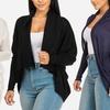 Women's Thin Knit Open-Front Long Sleeve Cardigan