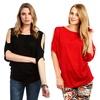 Women's Plus-Size Open-Shoulder Top