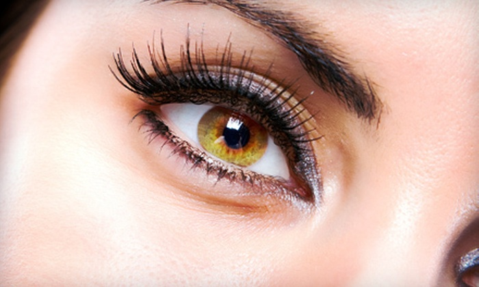 Lashes by BL - Multiple Locations: Up to 40 or Up to 100 Semipermanent Silk Eyelashes from Lashes by BL (Up to 68% Off)