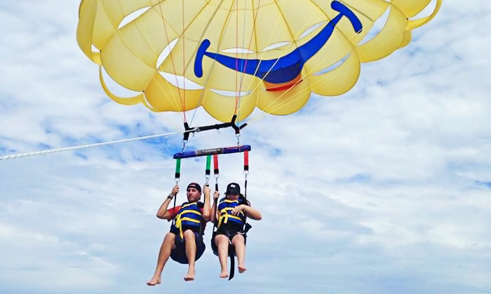 Suncoast Watersports - St. Pete Beach: Parasailing or Adrenaline Junky Parasailing for One or Three at Suncoast Watersports (Up to 41% Off)