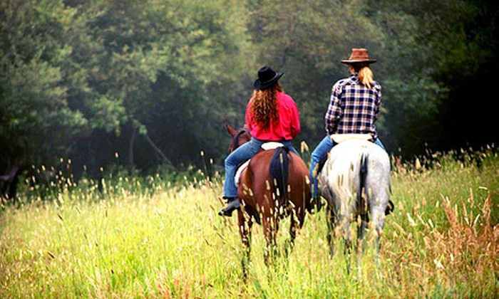 Green Acres Ranch - Temecula: $129 for a 75-Minute Guided Horseback Trail Ride for Two with Wine Tastings from Green Acres Ranch ($300 Value)