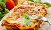 Braceria Gusto e Sapore di Pinuccio - Nardò: Menu d'asporto con lasagne, grigliata mista, dolce e un litro di vino alla Braceria Gusto e Sapore (sconto fino a 57%)