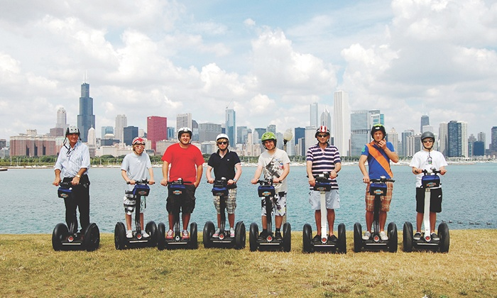 Bike and Roll Chicago - Multiple Locations: Sunset Segway Tour from Millennium Park orHyde Park Tourfor Two from Bike and Roll Chicago (50% Off)