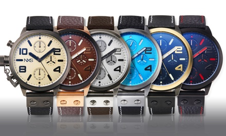 NXS MacGrath Chronograph Collection Men's Genuine Leather Watches