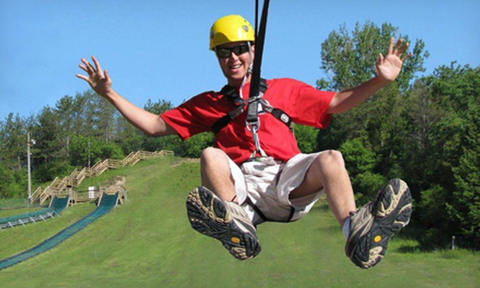Chicopee Tube Park - Centreville Chicopee: Three Zip Rides for One or Two or a 2-hour All Access Pass for Two or Four at Chicopee Tube Park (Up to 50% Off)