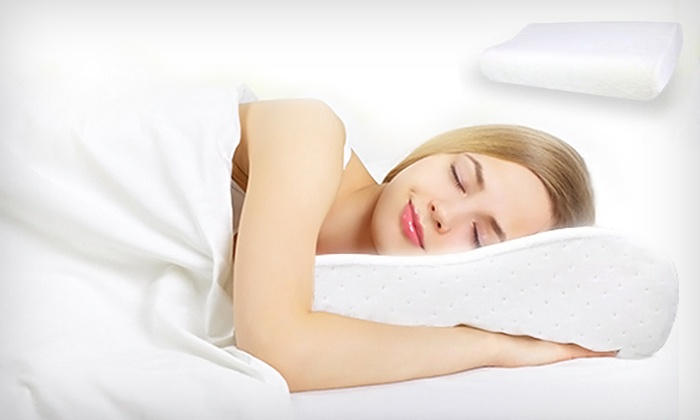 oreillers ergonomiques m moire de forme groupon shopping. Black Bedroom Furniture Sets. Home Design Ideas