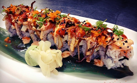 Sushi and Japanese Food at BlueFin Sushi Bar (Half Off). Two Options Available.